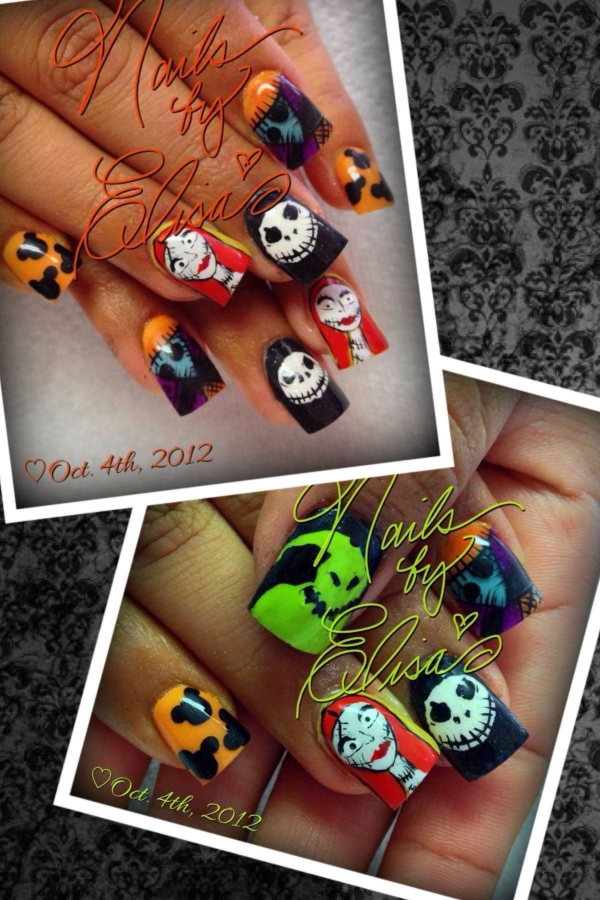Nightmare Before Christmas Nails | Nightmare before ...