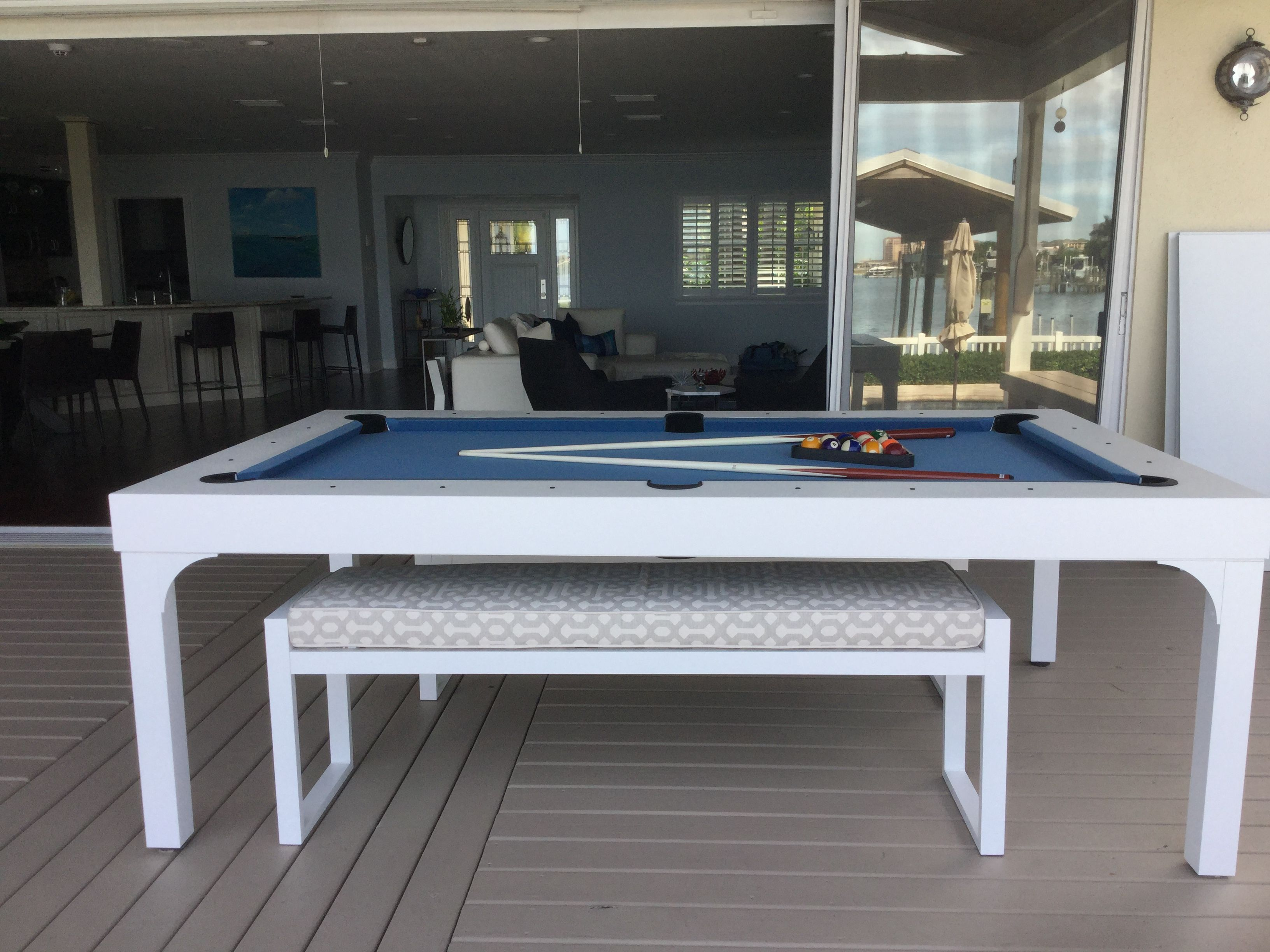 Get Outside And Play Some Pool With An All Weather Billiards Pool Table