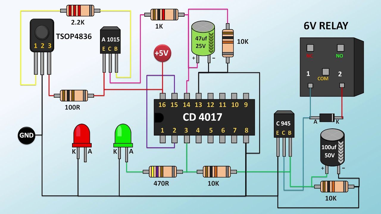 How To Make Remote Switch Part 2 Electronic Circuit Projects Electronics Mini Projects Circuit Projects