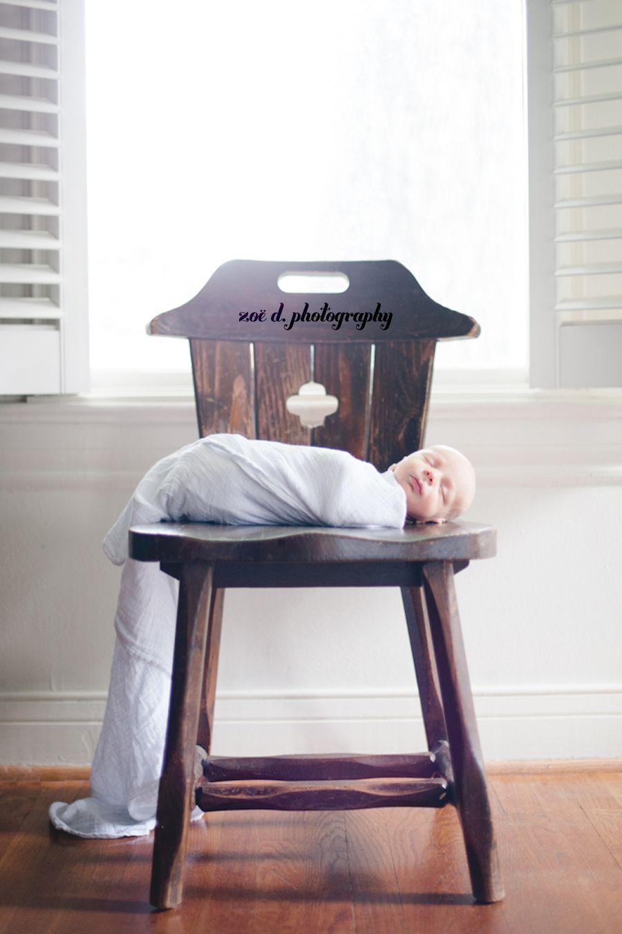 On Rustic Wooden Chair Dallas Newborn Photographer Baby Inspiration Newborn Photography