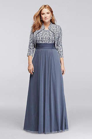 David Bridal Mother of Bride Dresses Plus Sizes
