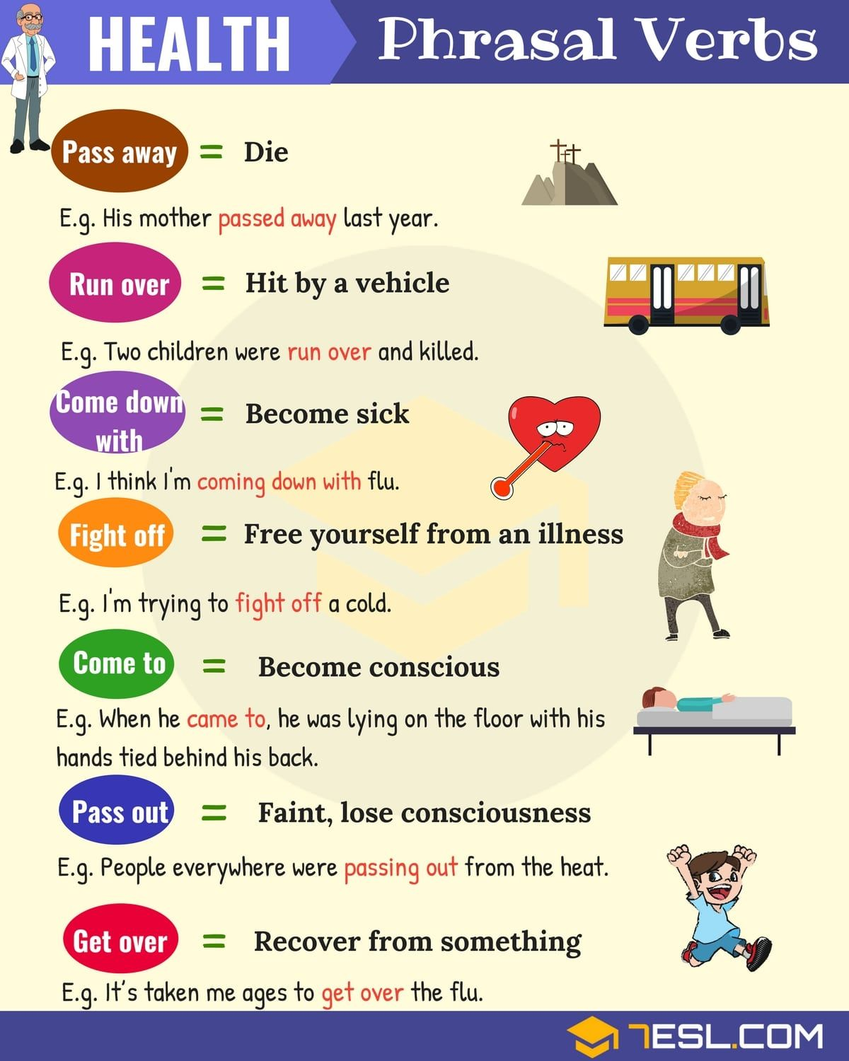Health Vocabulary 20 Useful Health Phrasal Verbs