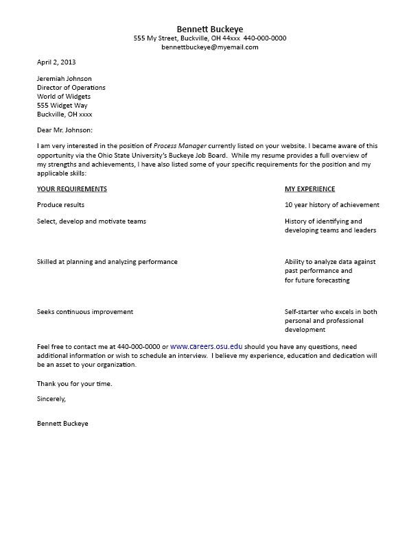 cover letter format resume example template official formal - format of a cover letter