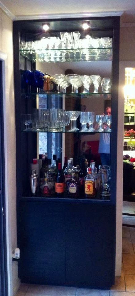 Turn a bookcase into a liquor cabinet | Completed home ...