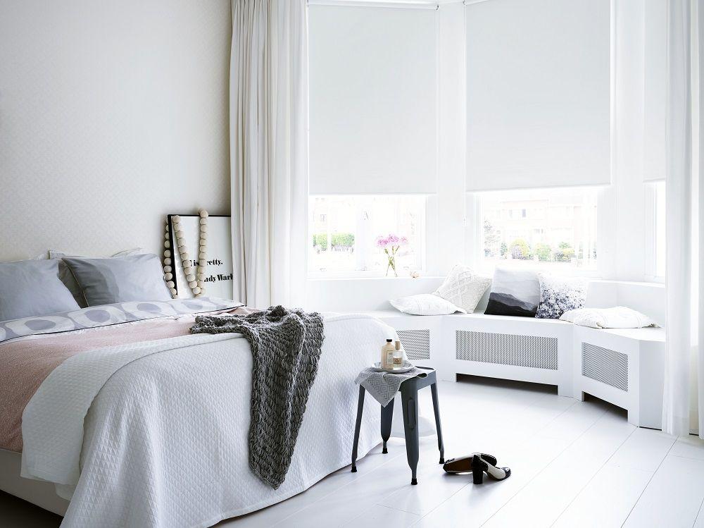 slaapkamer #stijlvol #wonen #rust #rolgordijn www.bece.nl http ...