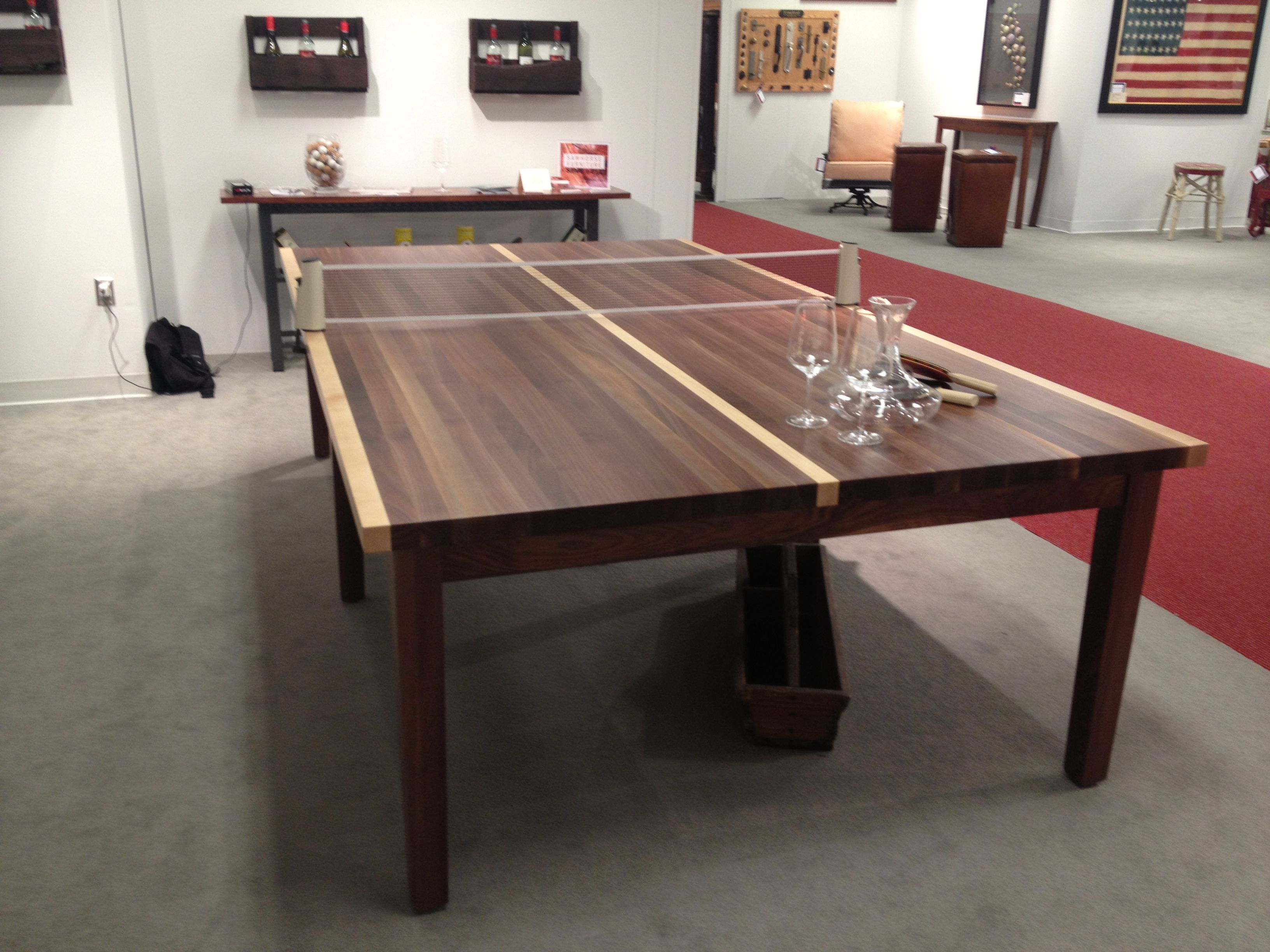 Custom Wood Top Ping Pong Table.