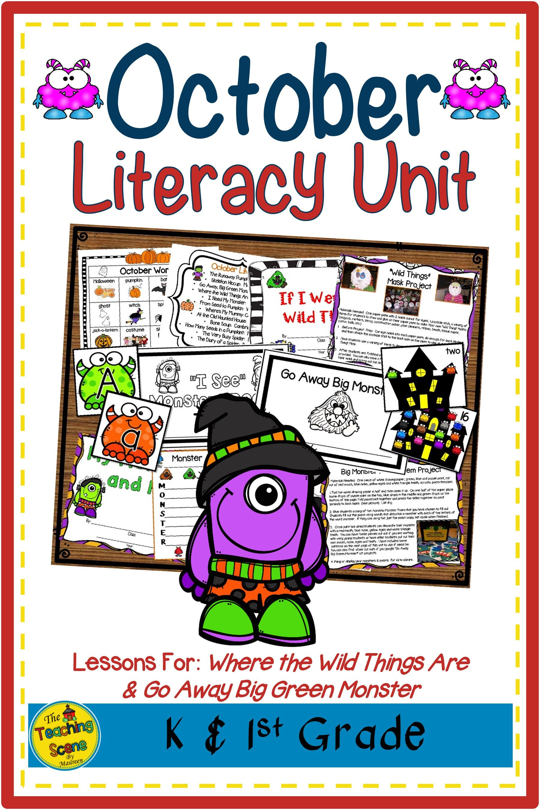 October Literacy Unit Themed Activities Amp Centers In
