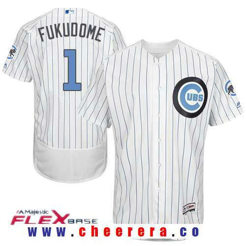 mens chicago cubs 1 kosuke fukudome white with baby blue fathers day stitched mlb majestic · chicag