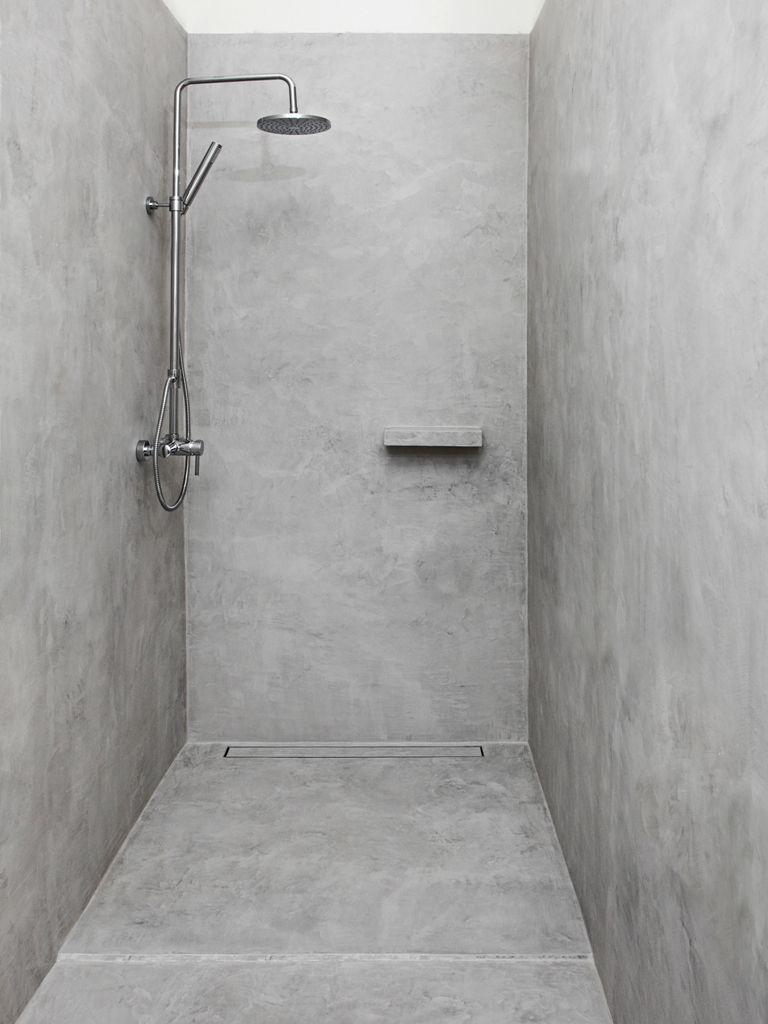 douche en beton cire