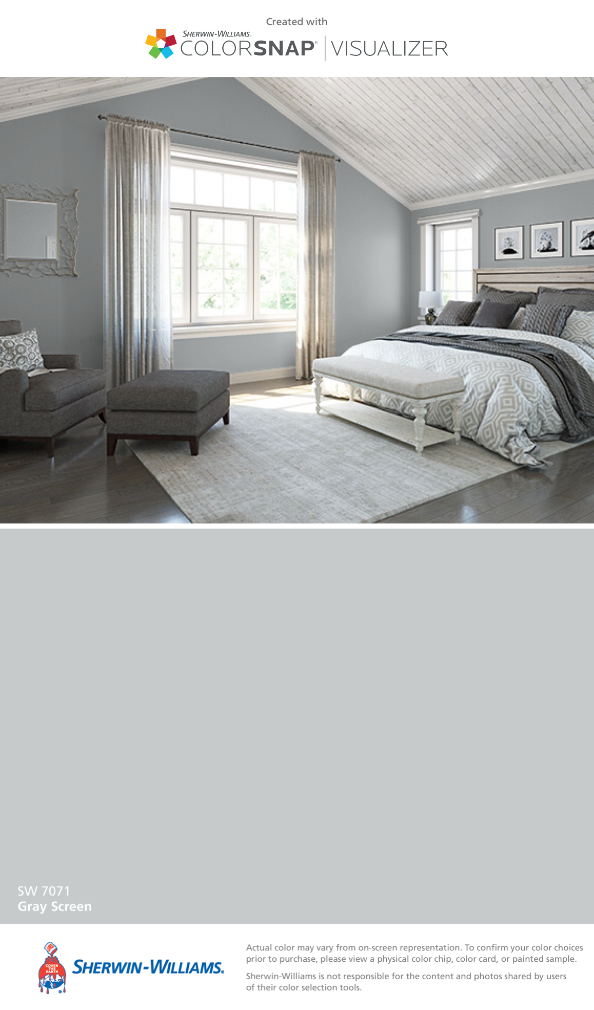 I found this color with colorsnap visualizer for iphone by sherwin williams gray screen sw 7071