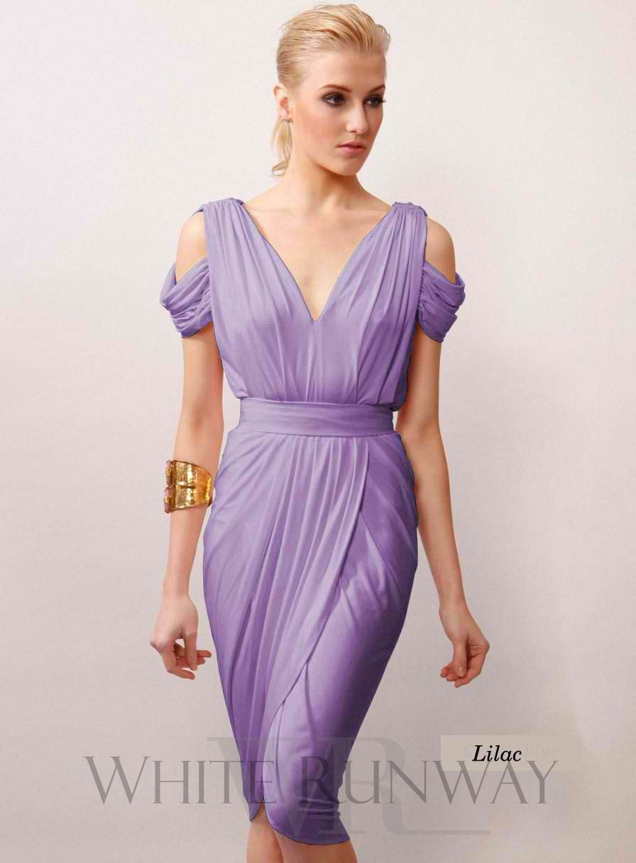 Purples, Lilac Draped Grecian Dress | dresses | Pinterest | Purple ...
