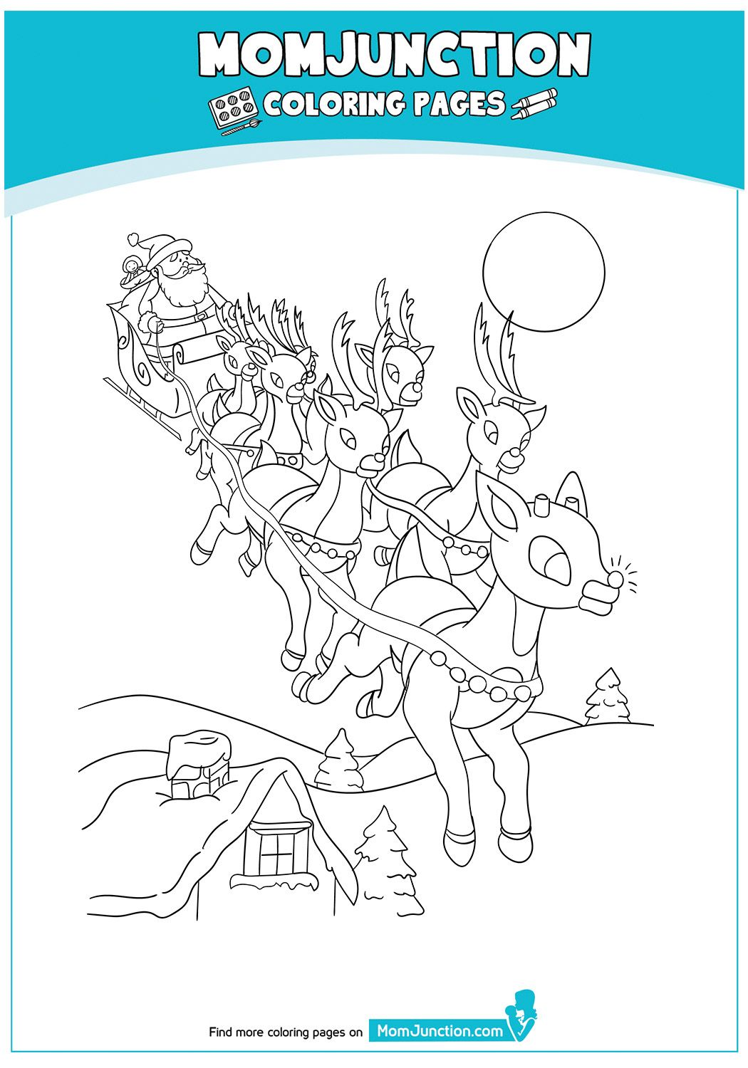 TheReindeerDuringChristmas17 Santa coloring pages
