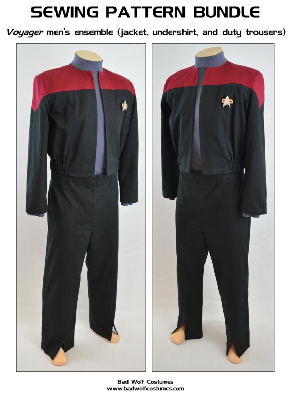 Star Trek Sewing Pattern Bundle - Starfleet uniform - Voyager Jacket ...