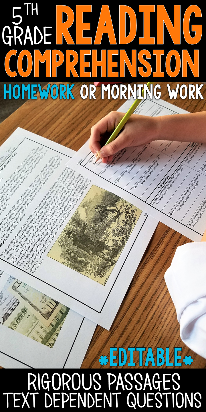 5th Grade Reading Homework & Quizzes
