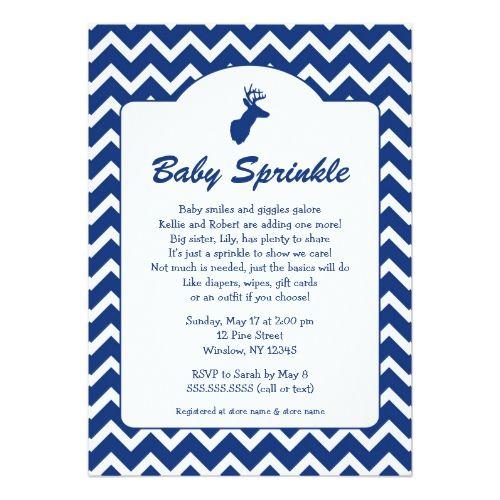 Buck Baby Sprinkle invites, boy baby shower, deer