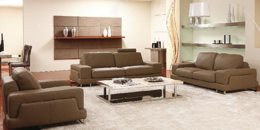 5 Seater Leather Sofa Set