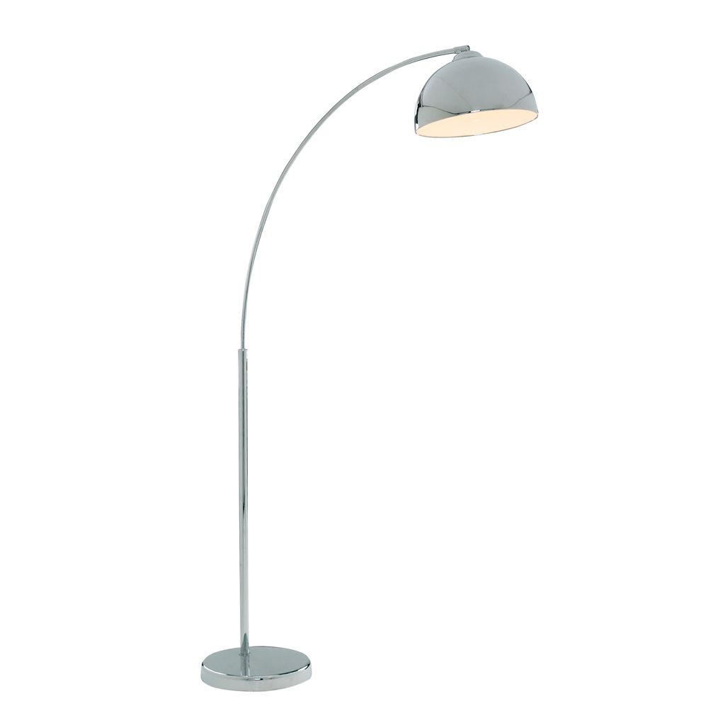 Curved Floor Lamp Chrome