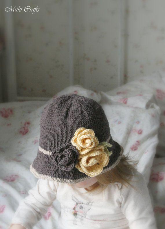 KNITTING PATTERN brim hat Pauletta with crochet by MukiCrafts