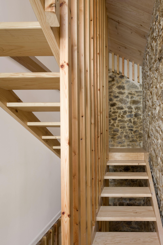 Escalera 004 2 Escaleras Pinterest Escalera De Madera  ~ Escaleras Prefabricadas De Madera