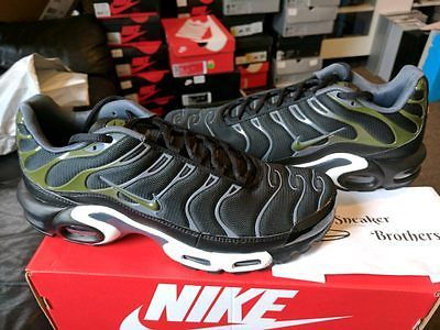 3c2a42bea5d Nike Air Max Plus TN Tuned 1 Black Legion Green Dark Grey White 852630-007  Wolf