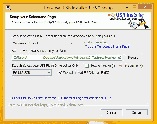 make windows 10 usb installer