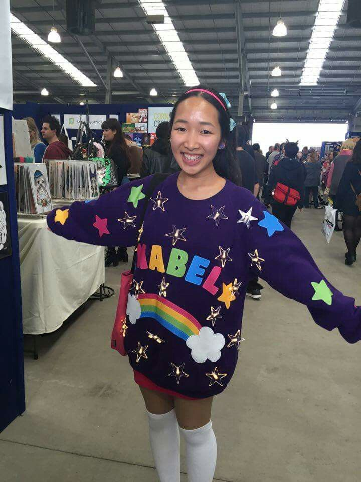 diy halloween costumes mabel pines light up sweater cosplay from gravity falls