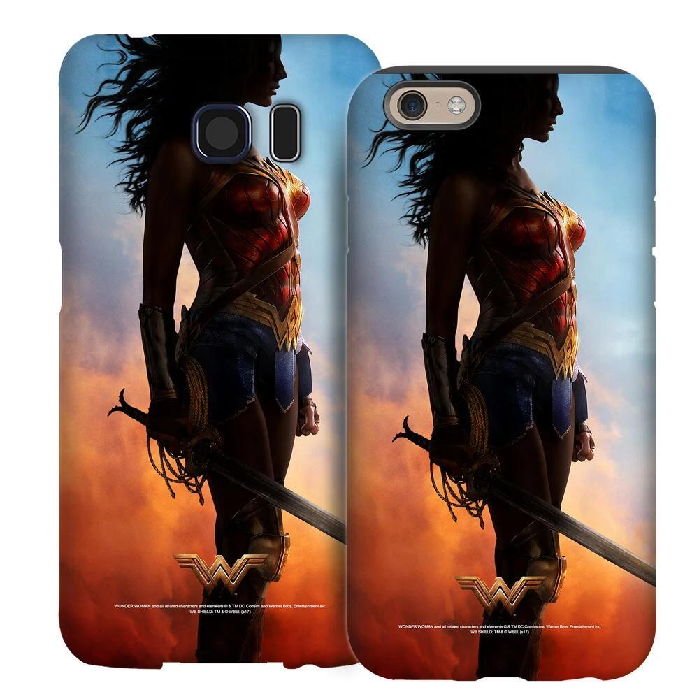 wonder woman in sky iphone case