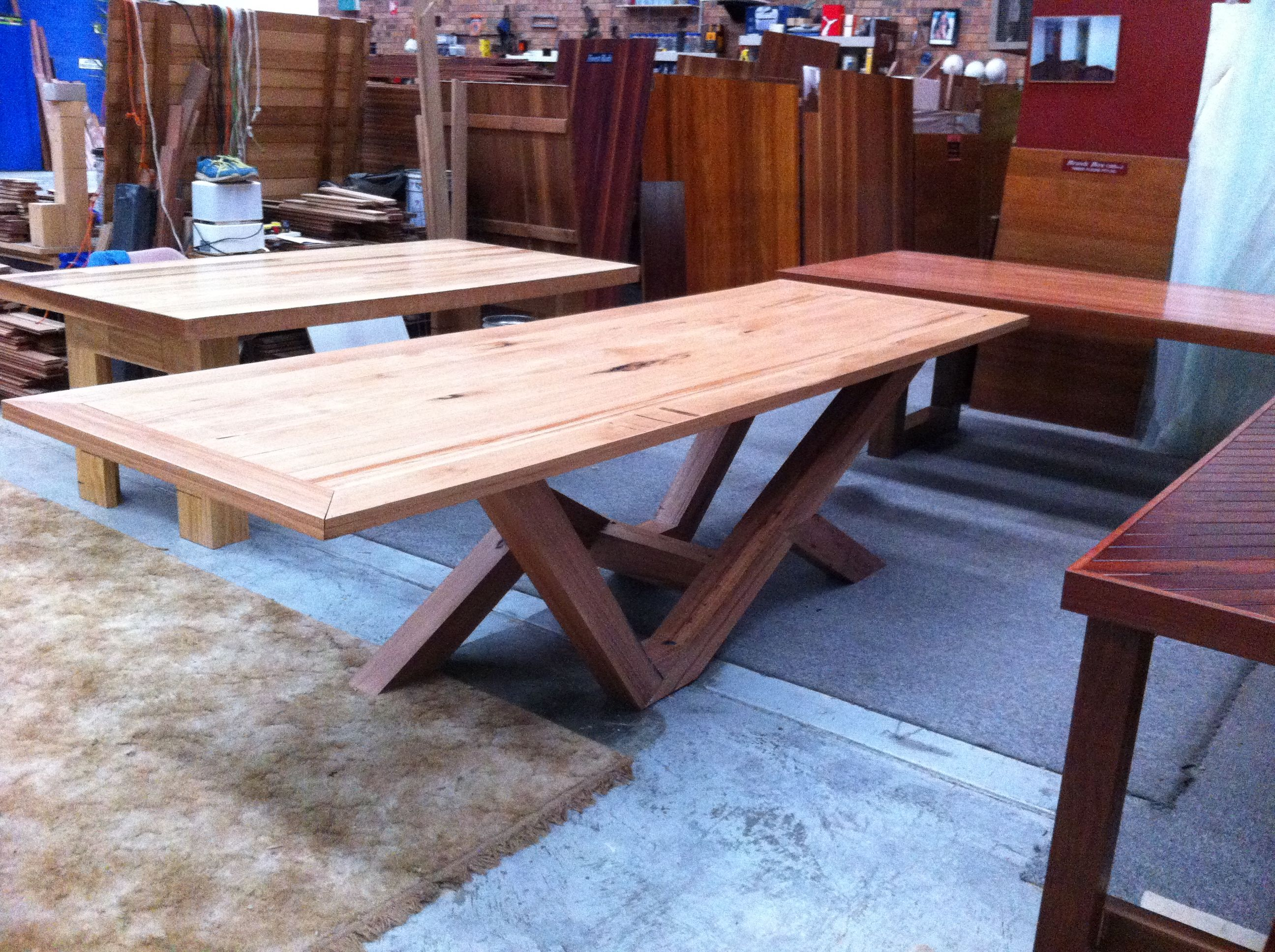 Solid Australian Hardwood tongue and groove timber flooring   custom built  dining table  made using. 34 best images about Custom Built furniture   Home Store on