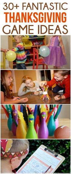 30 great Thanksgiving games and activities perfect for that time after  dinner! Great games for