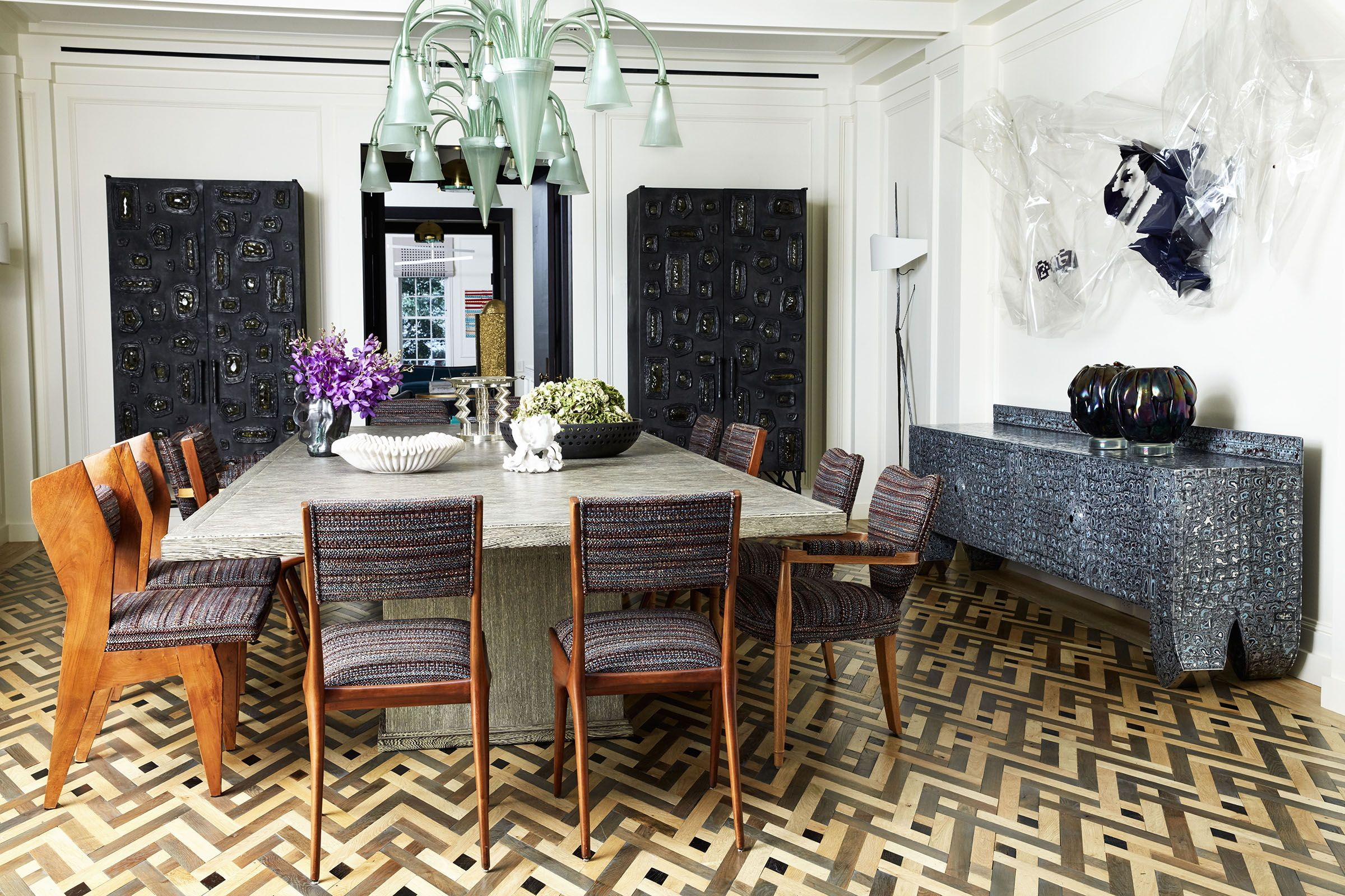 Orbiting A Dining Table With Rare Vintage Forms Encourages A