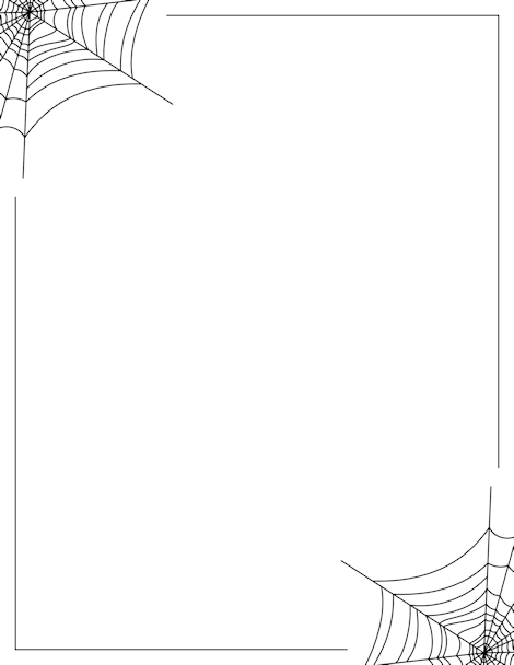 Spider Web Border Clip Art Page Border And Vector Graphics Halloween Borders Page Borders Spider Web