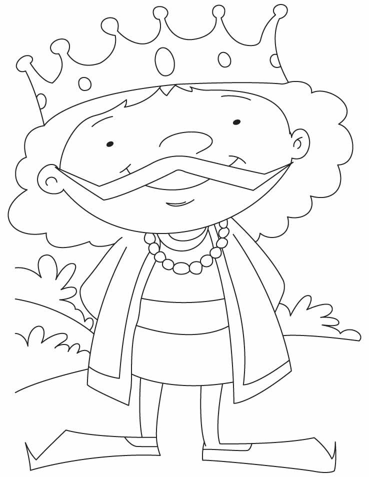 A Cartoon King Coloring Pages Download Free A Cartoon King