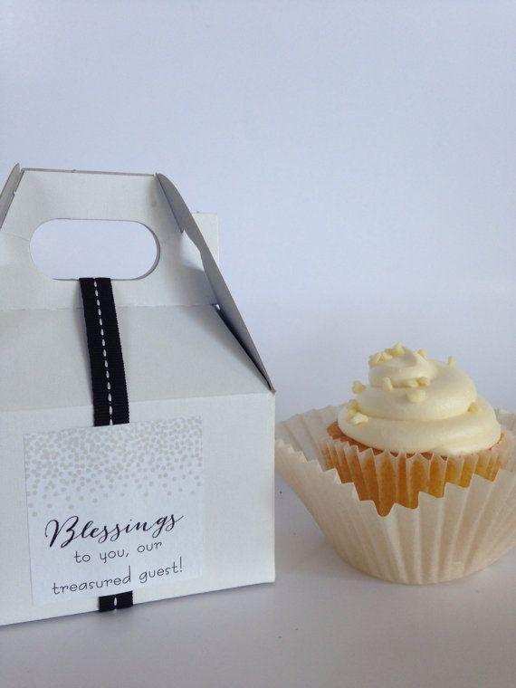 Wedding Favor Cupcake Boxes Plus Modern By Detailsondemand