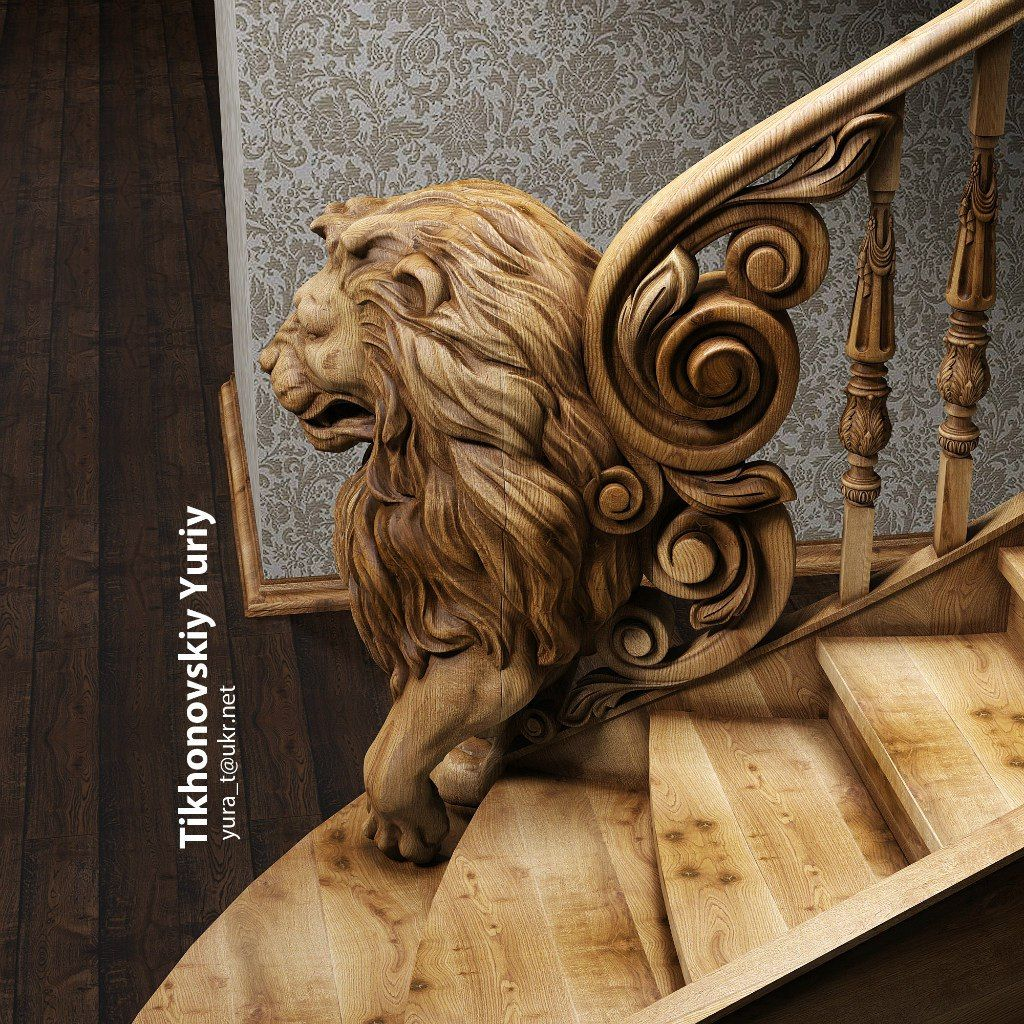 Best Юра Тихоновский Lion Stair Pinterest Wood Carving 640 x 480
