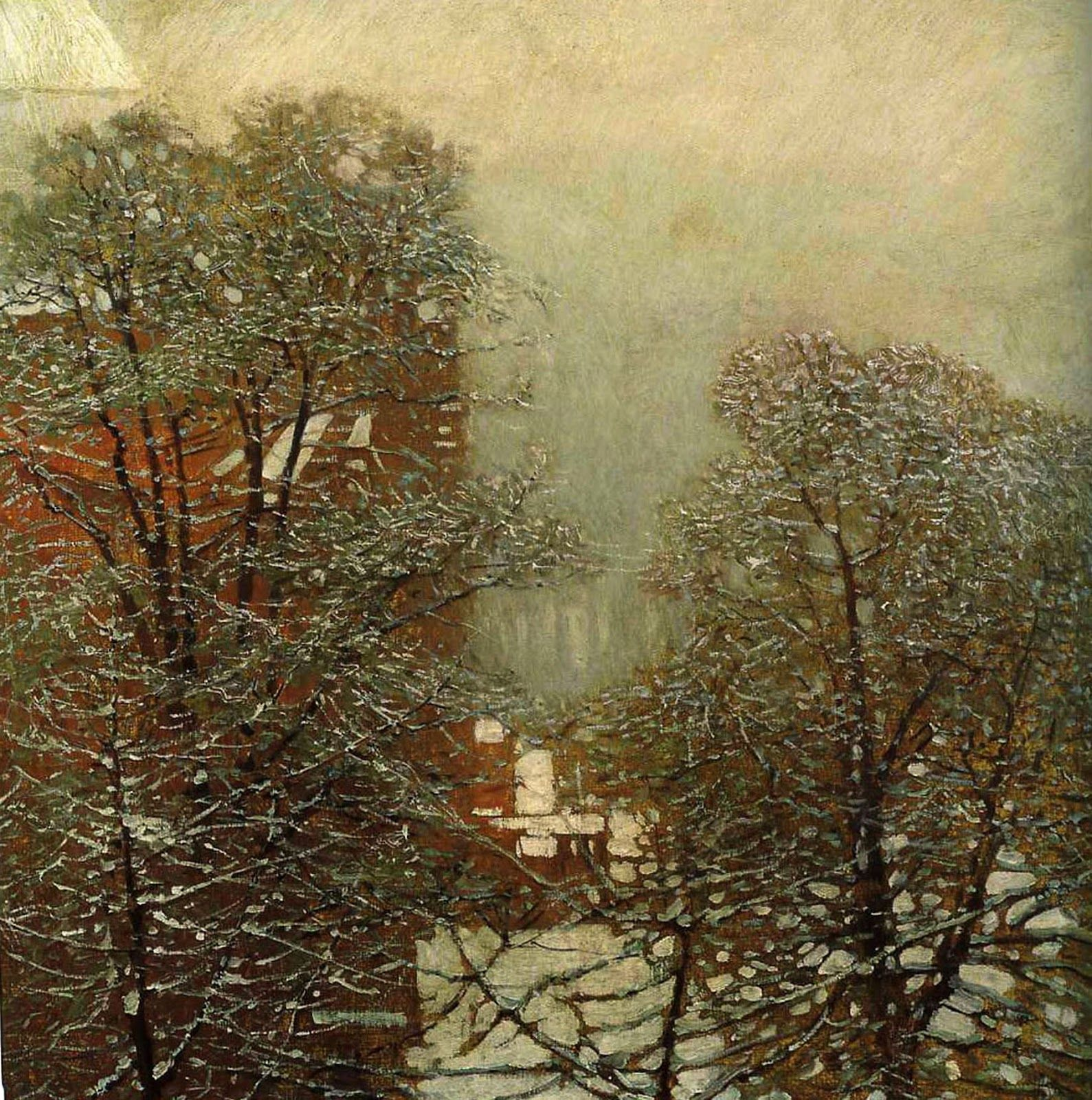CarlMoll%252BWinterScene%255B8%255D.jpg (image) | Winter painting, Winter  landscape, European art