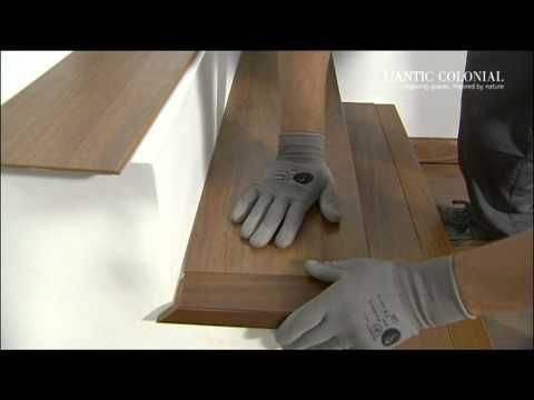 Fitting A Natural Wood Bullnose On A Staircase Laminate Stairs Hardwood Floors Wood Floors Wide Plank