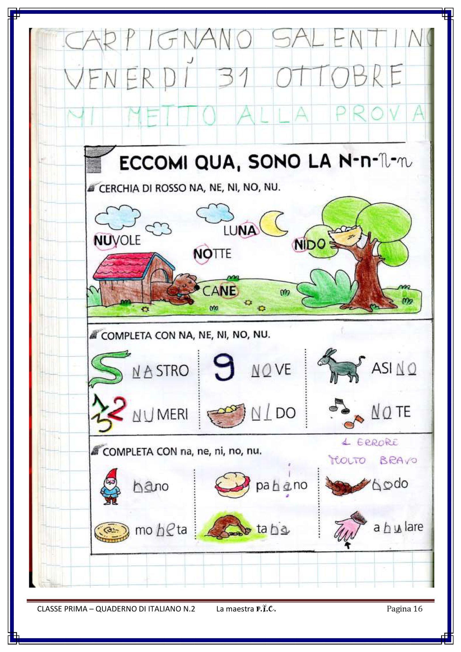 Il mio quaderno di italiano pdf to flipbook schede for Schede didattiche sci sce