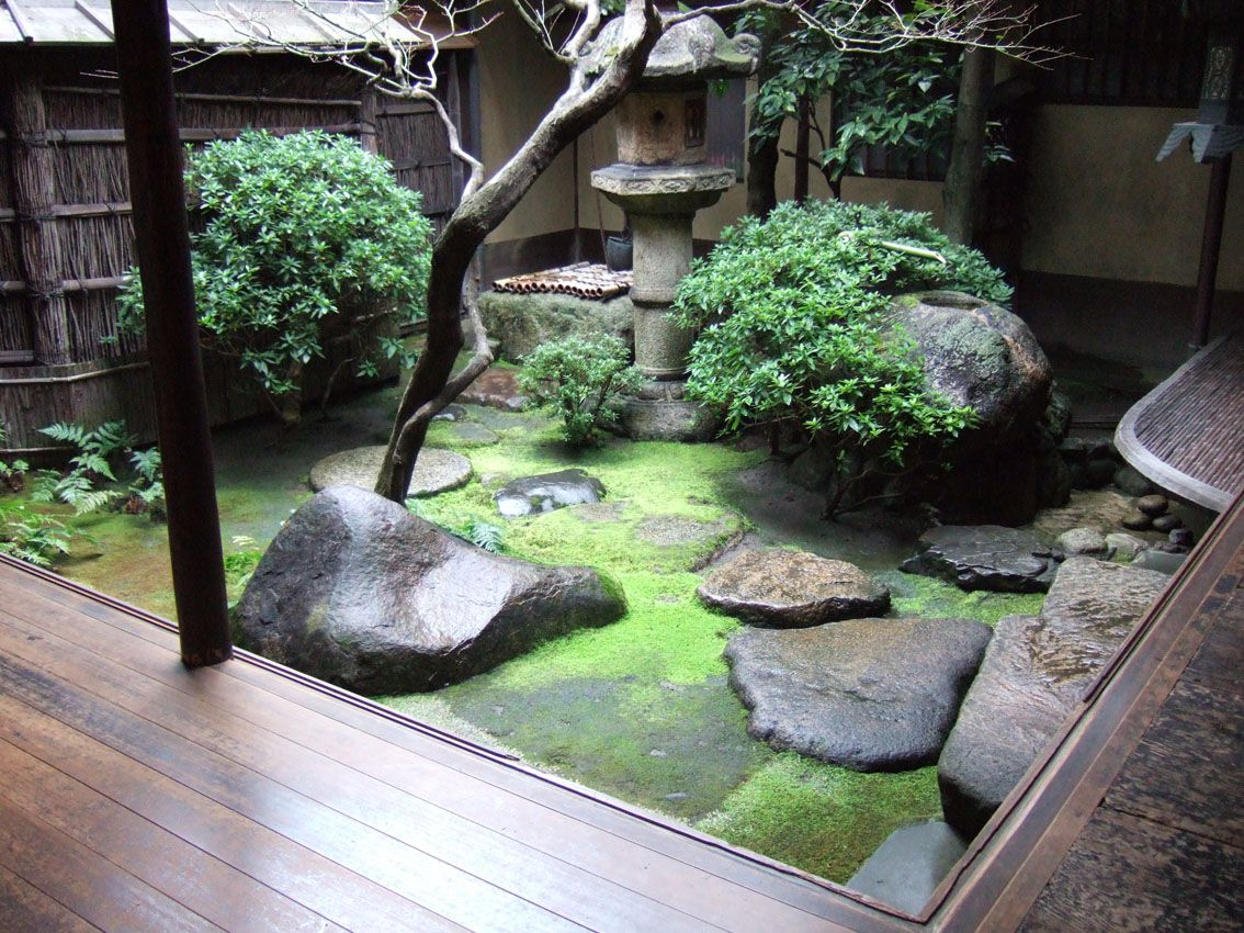 Japanese Internal Garden Zen Gardens Pinterest
