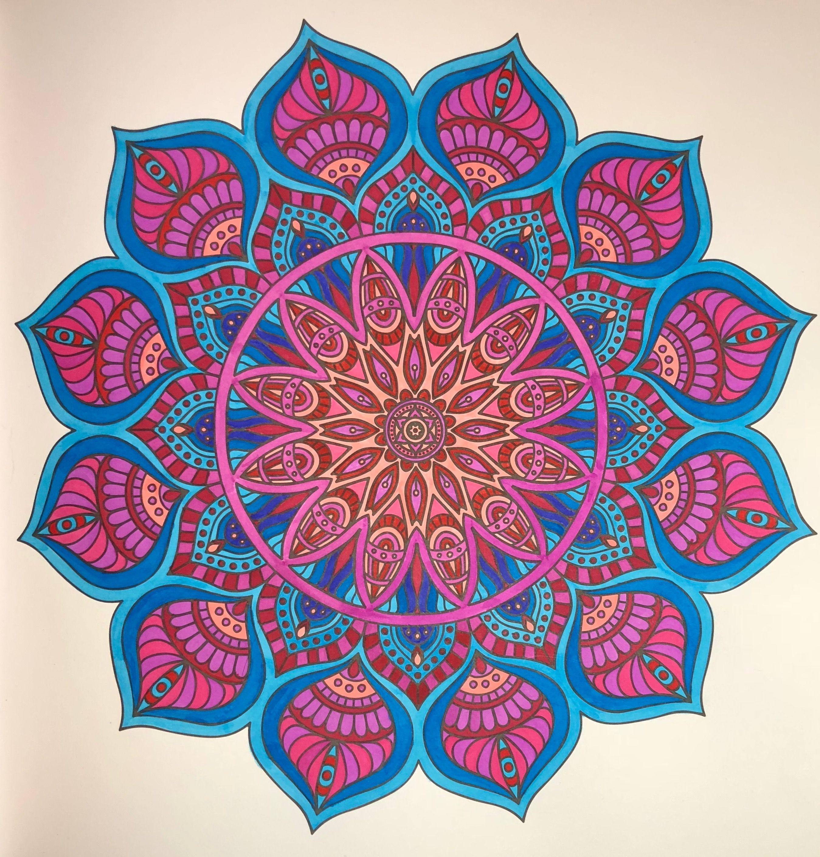 A Mandala From Mandala Meditation Coloring Book 2015 Colored By B Holmes 4 6 2018 With Arte Mandala Coloring Pages Mandala Coloring Mandala Coloring Books