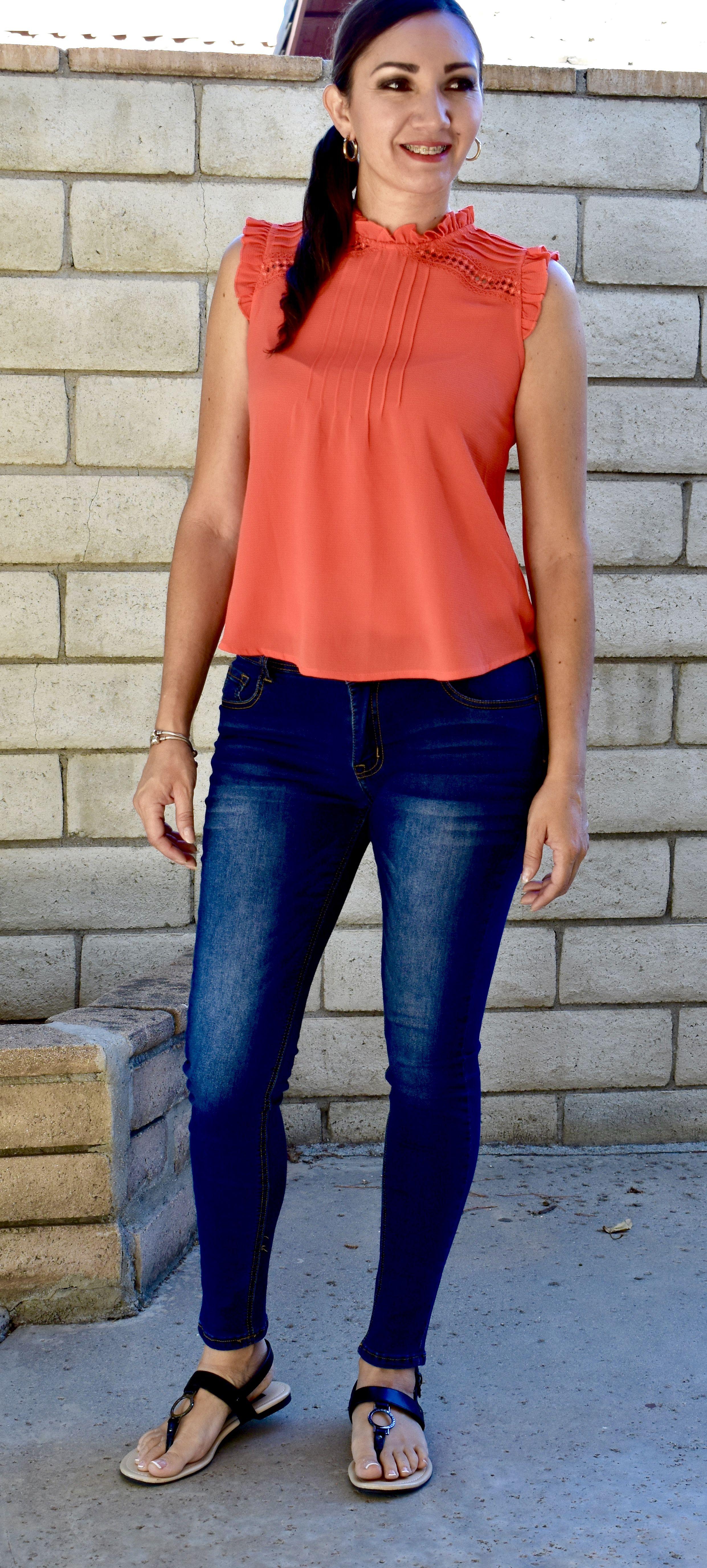 Orange shirt fashion