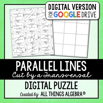 Parallel Lines, Transversals, and Angles Puzzle - GOOGLE