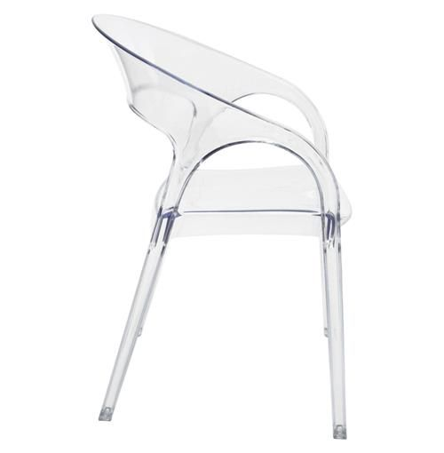 Kessler Modern Round Back Acrylic Clear Dining Chair With Images