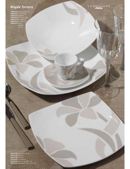 Il servizio piatti magda tortora della linea tendenze in - Servizio piatti da tavola in arcopal pz 18 prometeo ...
