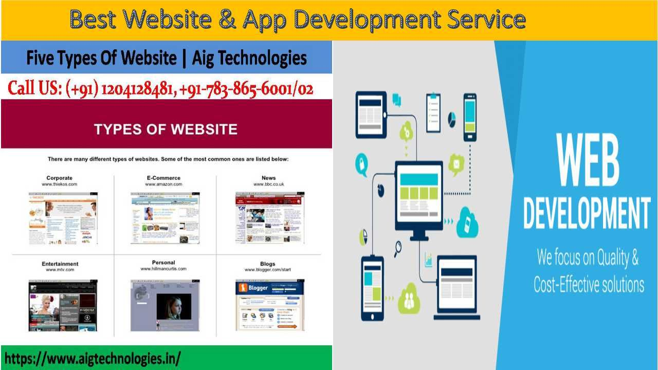 Aig Technologies Create Many Types Of Website Like Portal