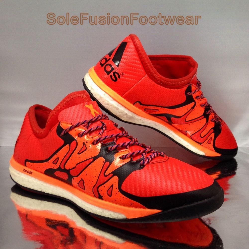 classic fit f4186 2f8c9 adidas Boost Mens Football Trainers Orange sz 9 X 15.1 Soccer Shoes US 9.5  43.3