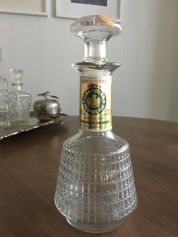 Whiskey Decanter Vintage Whisky Original Label Canadian