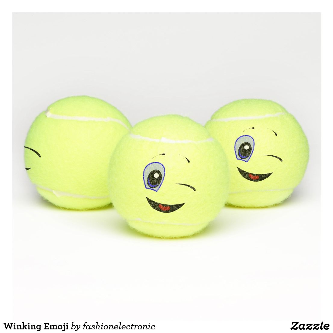 Winking Emoji Tennis Balls Tennis Balls Tennis Emoji Smiley