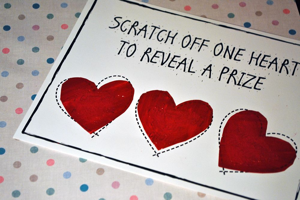 Card Making Ideas For Boyfriend Part - 25: Quick, Easy Valentines Scratch Card Tutorial With Free Downloadable Content.