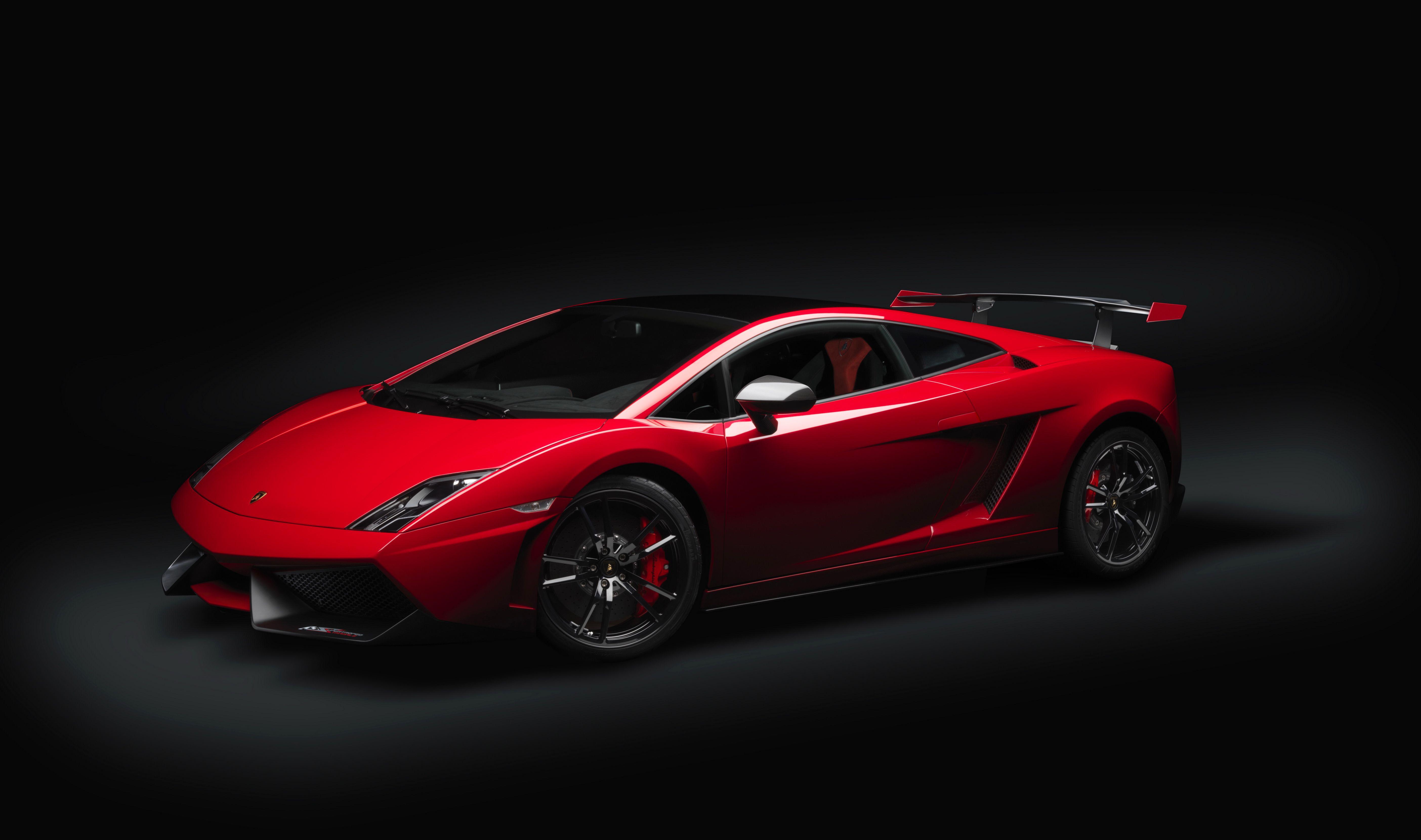 Red Lamborghini Gallardo Lp 550 2 Sport Car Wallpaper Black