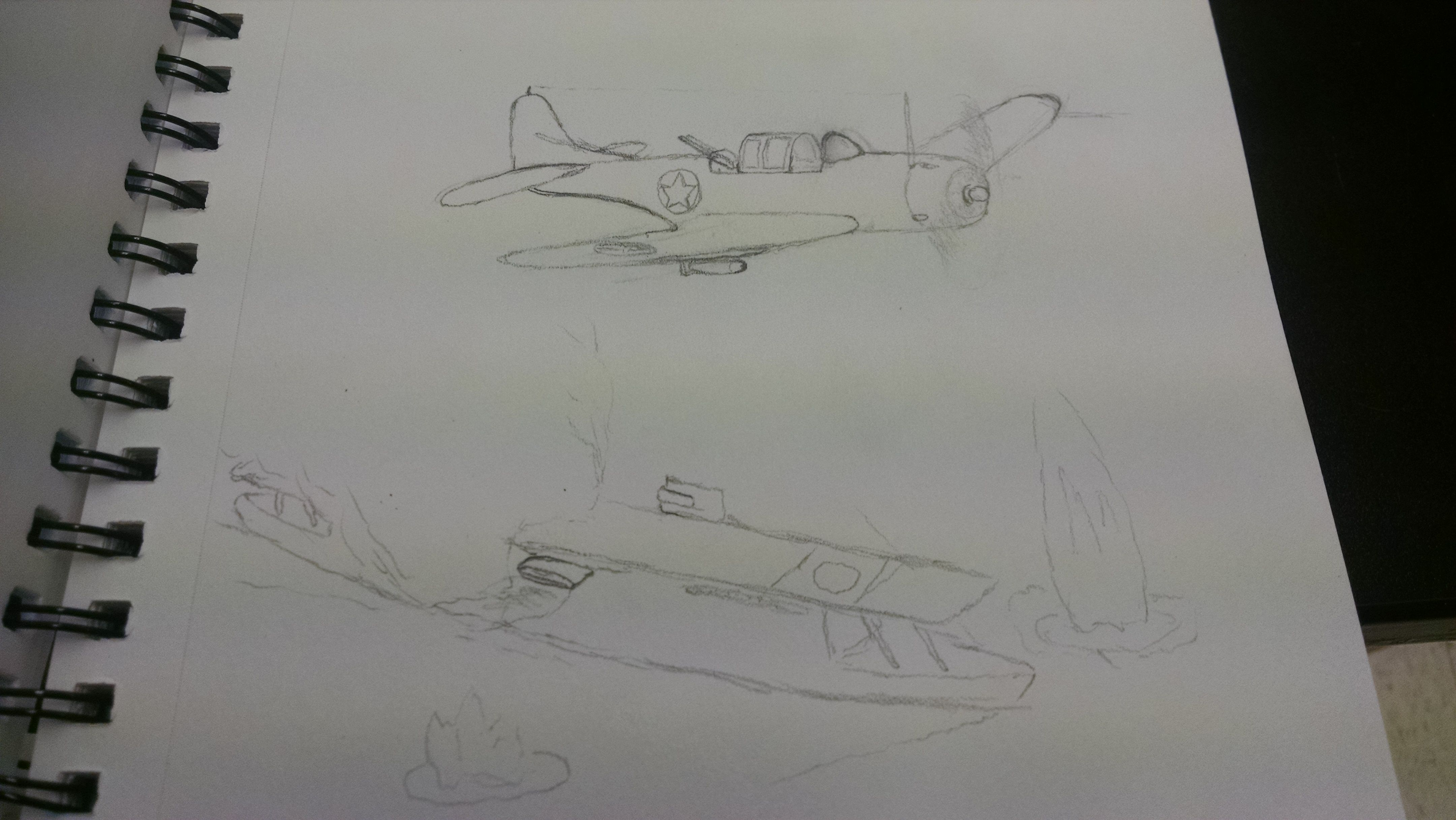 Battle Of Midway Wip Sketches Drawings Humanoid Sketch